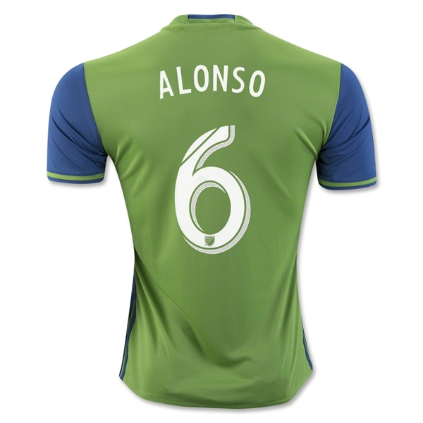 Seattle Sounders 2016 ALONSO Home Soccer Jersey