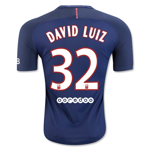 Paris Saint-Germain 16/17 DAVID LUIZ Authentic Camiseta de la 1ª equipación