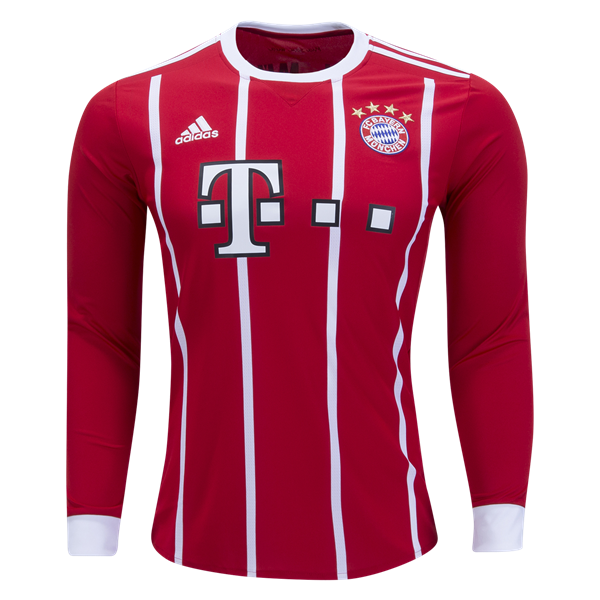 adidas Bayern Munich Long Sleeve Home Jersey 17/18